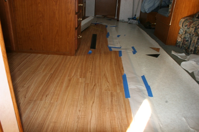 Rv Open Roads Forum Travel Trailers Allure Flooring Install Starts